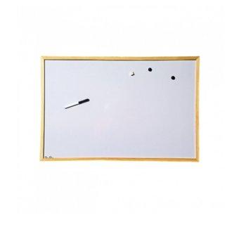 Магнитна дъска, с дървена рамка, размер 600x900 mm, бяла image