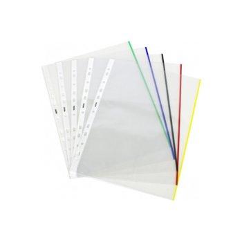 Джоб, за документи с формат до А4, кристален, с цветен ръб, продава се в опаковка от 25бр. image