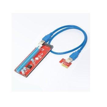 Контролер/екстендер Makki MAKKI-SR137-270 007S, от PCI-E x1 към PCI-E x16 през USB 3.0 кабел, за добив на криптовалути image