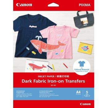 Копирна хартия Canon Dark Fabric Iron-on Transfers, A4, 160 g/m2, бял, 5 листа image