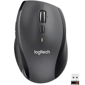 Мишка Logitech M705 Marathon, оптична (1000 dpi), безжична, USB, черна image