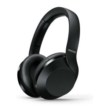 Слушалки Philips Performance TAPH802BK, безжични, микрофон, Bluetooth, до 30 часа време на работа, черни image