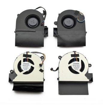 Вентилатор Left + Right за Acer Predator G9-591 G9-791, 5V, 4 pin image
