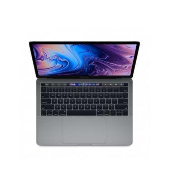 "Лаптоп Apple MacBook Pro 13 (MUHP2ZE/A_Z0W500096/BG)(сив), четириядрен Coffee Lake Intel Core i5-8257U 1.4/3.9 GHz, 13.3"" (33.78 cm) Retina IPS LED-backlit Display, (Thunderbolt 3), 8GB, 256GB SSD, macOS Mojave, 1.37 kg БГ клавиатура image"
