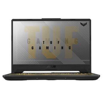 """Лаптоп Asus TUF Gaming A15 FA506IU-AL006 (90NR03N1-M04110), осемядрен AMD Ryzen 7 4800H 2.9/4.2GHz, 15.6"""" (39.62 cm) Ful HD IPS 144Hz Anti-Glare Display & GTX 1660Ti 6GB, (HDMI), 16GB DDR4, 512GB SSD, 2x USB 3.2, Free DOS image"""