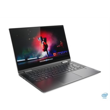 "Лаптоп Lenovo Yoga C740-14IML (81TC002LBM)(сив), четириядрен Comet Lake Intel Core i5-10210U 1.6/4.2 GHz, 14.0"" (35.56 cm) Full HD IPS Touchscreen Anti-Glare Display, (USB 3.1 Type-C), 8GB DDR4, 512GB SSD, 2x USB 3.1 Type-C, Windows 10 Home  image"