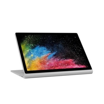 "Хибриден лаптоп Microsoft Surface Book 2 (HNN-00025)(сребрист), четитиядрен Kaby Lake R Intel Core i7-8650U 1.9/4.2 GHz, 13.5"" (34.29 cm) Multi-touch Glare PixelSense Display & GF GTX 1050 2GB, (mDP), 16GB, 1TB HDD, 1x USB Type-C, Windows 10  image"
