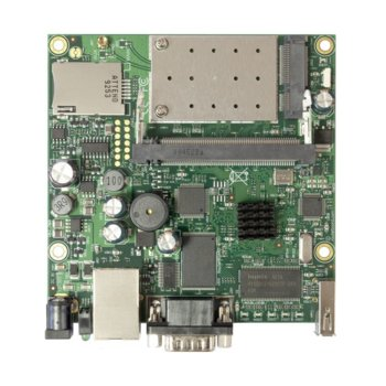 Рутер MikroTik RB411UAHR, мобилен 3G, 2.4GHz, Wireless G, 1x LAN 10/100, 1x RS232, 1x miniSIM, 1x USB, Passive PoE, 1x вградена антена image