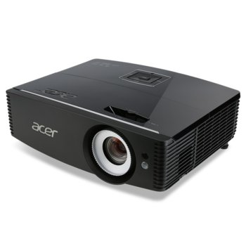 Проектор Acer Projector P6200 (MR.JMF11.001), 3D Ready, DLP, WUXGA, 20.000:1, 5000lm, 3x HDMI, USB (Mini-B), VGA, LAN image