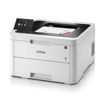 """LED принтер Brother HL-L3270CDW, цветен, 2400 x 600 dpi, 24 стр/мин, LAN100Base-TX, Wi-Fi/NFC, USB 3.0, двустранен печат, А4, 6.8"""" (17.27 cm) цветен сензорен дисплей image"""