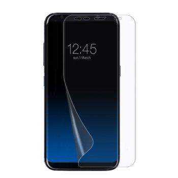 Протектор от закалено стъкло /Tempered Glass/ PET за Samsung S10e, силиконов, черна рамка image