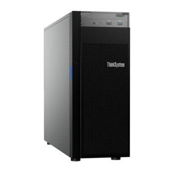 Сървър Lenovo ThinkSystem ST250 (7Y45A00TEA), шестядрен Coffee Lake Intel Xeon E-2176G 3.7/4.7 GHz, 16GB DDR4, без HDD, 2x 1Gbe, 2x USB 3.1, без ОС, 1x 550W  image