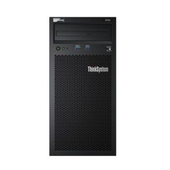 Сървър Lenovo ThinkSystem ST50 (7Y48A02CEA), четириядрен Coffee Lake Intel Xeon E-2144G 3.6/4.5 GHz, 8GB UDIMM, 2x 1TB HDD, 1x 1GbE, 2x USB 3.1 G1, без ОС, 1x 250W Platinum image
