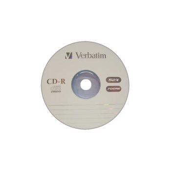 Оптичен носител CD-R media  700MB, Verbatim image