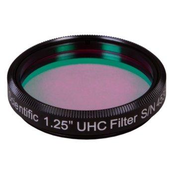 """Филтър за телескоп Explore Scientific UHC Nebula 1.25"""", пропуска само светлината на водородните(H-beta) и кислородните емисии, 31.7mm диаметър на цилиндъра image"""