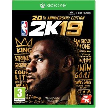 Игра за конзола NBA 2K19 20th Anniversary Edition, за Xbox One image