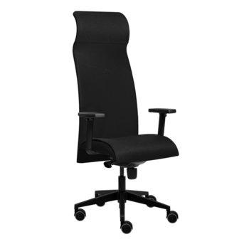 Президентски стол Tronhill Solium Executive (ON4010200038), дамаска и меш, 120 кг. максимално натоварване, 5 заключващи се работни позиции, черен image