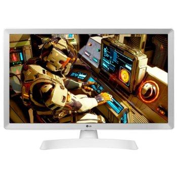 """Монитор LG 24TL510S-WZ, 23.6"""" (59.94 cm) WVA панел, HD, 14ms, 5 000 000:1, 250cd/m2, DVB-T2/C /S2, HDMI, бял image"""