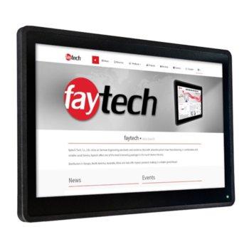 """Индустриален монитор Faytech 1010501884 FT156TMBCAPOB-V2, 15.6"""" (39.62 cm) Full HD Touchscreen, DisplayPort, HDMI, VGA image"""