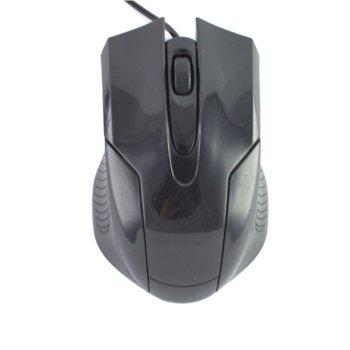 Мишка, оптична, 1200 DPI, USB, черна image