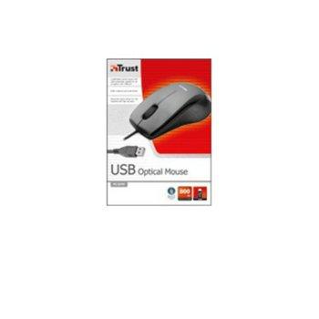 Мишка Trust MI-2275F, оптична, жична, USB, черно/сива image