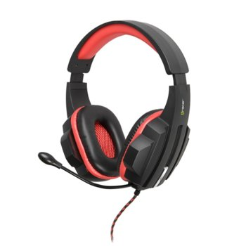 Слушалки Tracer Battle Heroes Expert, микрофон, 40мм говорители, 2м кабел, гейминг, черни image
