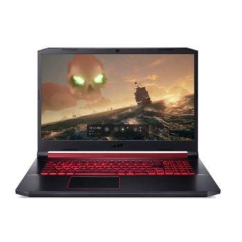 "Лаптоп Acer Nitro 5 AN517-51-73W9 (NH.Q5DEX.010), шестядрен Coffee Lake Intel Core i7-9750H 2.6/4.50 GHz, 17.3"" (43.94 cm) Full HD IPS Anti-Glare Display & GTX 1660Ti 6GB, (HDMI), 8GB DDR4, 512GB SSD, 1x USB 3.1 Type-C, Linux image"