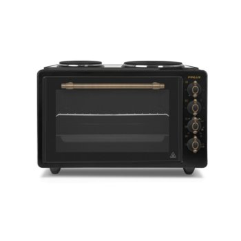 Готварска печка Finlux FMO-422ANTR, ток, енергиен клас A, 2 брой нагревателни зони, 42 л. обем на фурната, механично управление, бял image