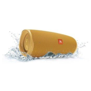 Тонколона JBL Charge 4 Yellow, 30W, Bluetooth, AUX, жълта, водоустойчива image