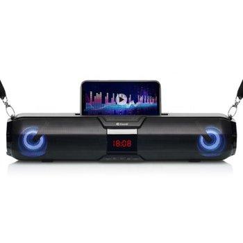 Тонколона Kisonli Led-900, 2.0, 10W, Bluetooth, USB, 3.5mm jack, черна, преносима, слот за microSD карта, батерия 2400mAh капацитет image