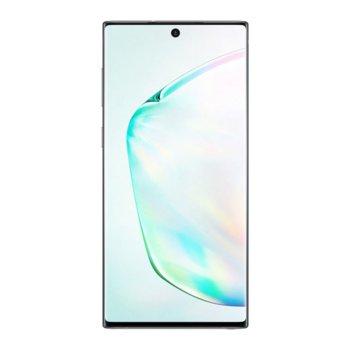"Смартфон Samsung Galaxy Note 10 (Aura Glow), поддържа 2 sim карти, 6.3"" (16.00 cm) FHD+ Dynamic AMOLED дисплей, осемядрен Snapdragon 8 2.73GHz, 8GB RAM, 256GB Flash памет (+ microSD слот), 12.0 + 12.0 + 16.0 MP & 10.0 MP камера, Android, 168г image"