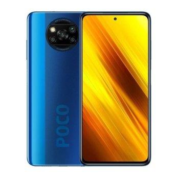 "Смартфон Xiaomi Poco X3 NFC (син), поддържа 2 sim карти, 6.67"" (16.94 cm) IPS 120Hz HDR10 дисплей, осемядрен Snapdragon 732G 2.3GHz, 6GB RAM, 128GB Flash памет (+ microSD слот), 64.0 + 13.0 + 2.0 + 2.0 & Mpix камера image"