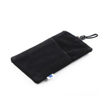 "Калъф тип ""джоб"" ZTE 4.3''(10.92см) за телефони, платнен, черен image"