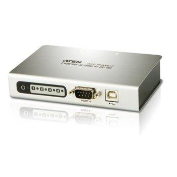 KVM суич ATEN UC2324, от USB B(ж) към 4 x DB-9(ж), 1 устройство image