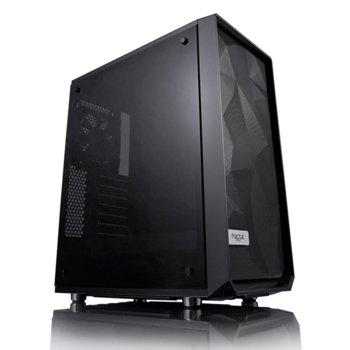 Кутия Fractal Design Meshify C, ATX/mATX/ITX, прозорец, черна, без захранване image