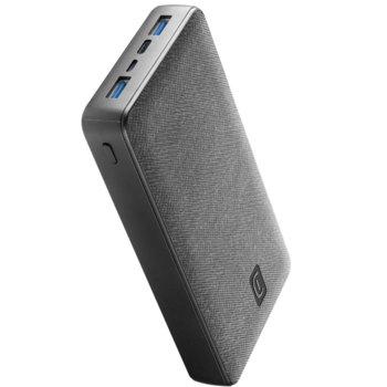 Външна батерия /power bank/ Cellularline Shade (PBSTYLE20000K), 20000mAh, 2x USB-A, 1x USB-C, 1x USB-Micro, черна image