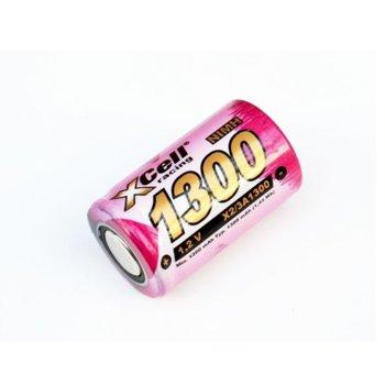 Акумулаторна батерия XCell 2/3A 1300 H, 2/3А, 1.2V, 1300mAh, NiMH, 1 бр. image