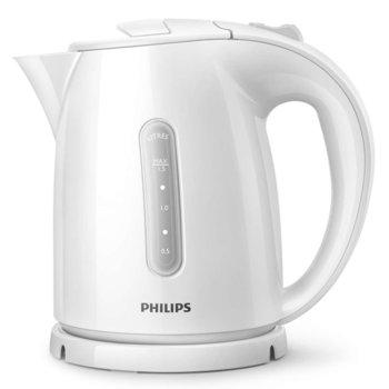 Електрическа кана Philips HD4646/00, Daily Collection, 1.7 л. обем, филтър за варовик, индикатор за ниво на водата, прибиране на кабела, Автоматично изключване, 2200 W, бяла image