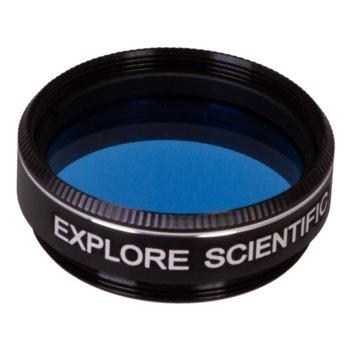 Филтър за телескоп Explore Scientific N82A, светлосин филтър, 1.25mm диаметър на цилиндъра, анти-рефлективен image