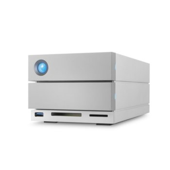 Твърд диск 20TB LaCie 2big Dock (сребрист), външен, Thunderbolt 3, USB 3.1, DisplayPort, SD карта, CF карта image