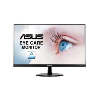 """Монитор Asus VP249HE (90LM03L0-B02170), 23.8""""(60.5cm) IPS панел, 75Hz, Full HD, 5ms, 250 cd/m2, HDMI, VGA, AUX image"""