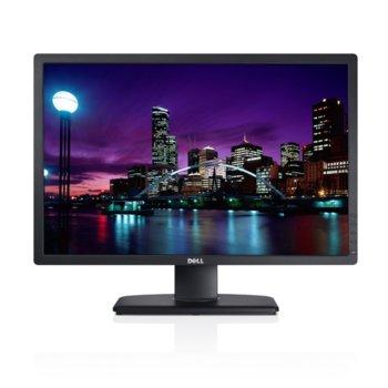 """Монитор Dell UltraSharp U2412M, 24"""" (60.96 cm) IPS панел, Full HD, 8ms, 2 000 000:1 300cd/m2, DVI (HDCP), DisplayPort, 4-портов USB хъб image"""