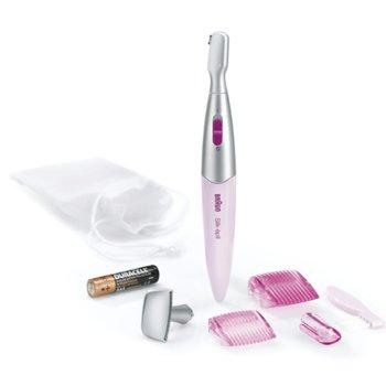 Тример Braun FG1100, тример за деликатни зони, oформяне и подкъсяване на веждите, ултра прецизност, розов image