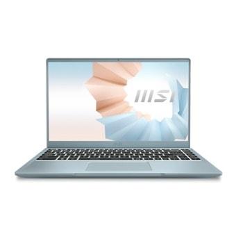 "Лаптоп MSI Modern 14 B11MO (9S7-14D312-008)(син), четириядрен Tiger Lake Intel Core i7-1165G7 4.70 GHz, 14.0"" (35.56 cm) Full HD IPS Display, (HDMI), 8GB DDR4, 512GB SSD, 1x Type-C USB 3.2, Windows 10 Home image"