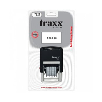 Автоматичен номератор Traxx 7846, 6 цифри, височина на шрифта 4.0 mm image