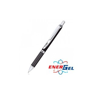 Автоматичен ролер Pentel BL407, черен цвят на писане, дебелина на линията 0.7 mm, гел, черен image