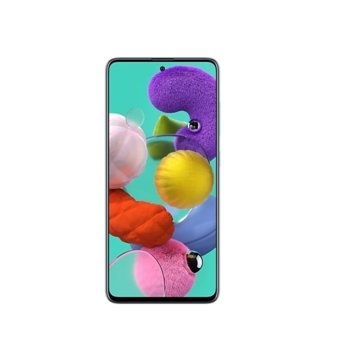 "Смартфон Samsung GALAXY A51 SM-A515 (SM-A515FZBVEUE)(син), поддържа 2 sim карти, 6.5"" (16.51 cm) Super AMOLED дисплей, осемядрен Exynos 9611 2.3 GHz, 4GB RAM, 128GB Flash памет (+microSD слот), 48.0+12.0+5.0+5.0 & 32.0 MPix камера, Android 10 image"