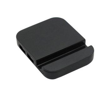 USB Хъб 12058, 4x USB 2.0 port, стойка за телефон, черен image
