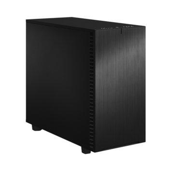 Кутия Fractal Design Define 7 Black Solid, E-ATX (max 285 mm)/ATX/mATX/mITX, USB 3.1 Gen 2 Type-C, черна, без захранване image
