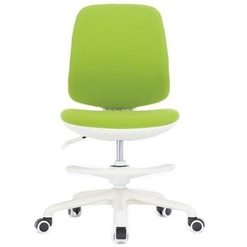 Детски стол RFG Candy Foot White, до 120кг, дамаска, пластмасова база, регулиране на височината, ергономичен, зелен image